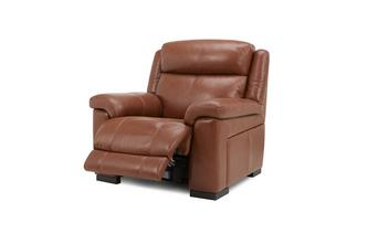 Georgia Leather and Leather Look Electric Recliner Chair Brazil with Leather Look Fabric