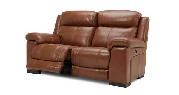 Georgia Leather and Leather Look 2 Seater Electric Recliner