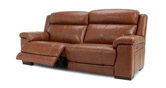 Georgia Leather and Leather Look 3 Seater Manual Recliner