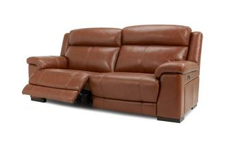 Leather and Leather Look 3 Seater Power Recliner Brazil with Leather Look Fabric