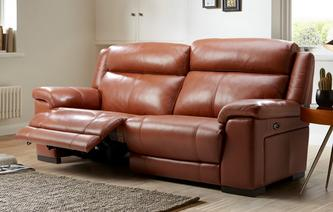 Georgia Leder met lederlook  3 Seater Power Recliner Brazil with Leather Look Fabric