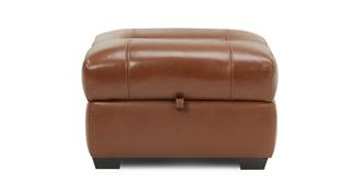 Georgia Leather and Leather Look Storage Footstool