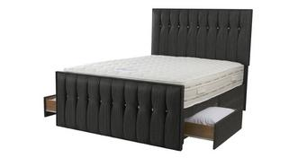 Glitz King 2 Drawer Bed