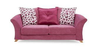 Gloss 2 Seater Pillow Back Sofa