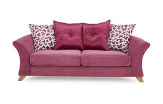 3 Seater Pillow Back Sofa Gloss