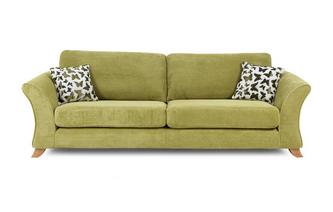 4 Seater Formal Back Sofa Gloss