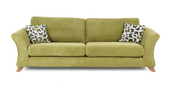 Gloss 4 Seater Formal Back Sofa