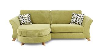 Gloss 4 Seater Formal Back Lounger Sofa