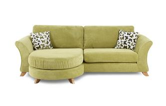 4 Seater Formal Back Lounger Sofa Gloss