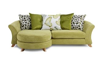 4 Seater Pillow Back Lounger Sofa Gloss