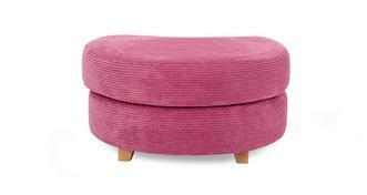 Gloss Crescent Footstool