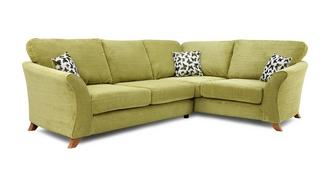 Gloss Left Hand Facing 2 Piece Formal Back Corner Sofa