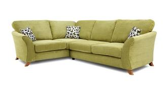 Gloss Right Hand Facing 2 Piece Formal Back Corner Sofa