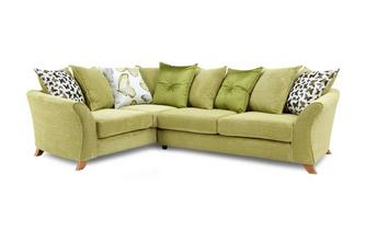 Right Hand Facing 2 Piece Pillow Back Corner Sofa