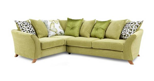 Gloss Right Hand Facing 2 Piece Pillow Back Corner Sofa