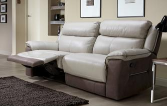 Gosforth 3 Seater Manual Recliner Bacio Vellutato
