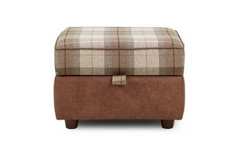 Check Top Storage Footstool