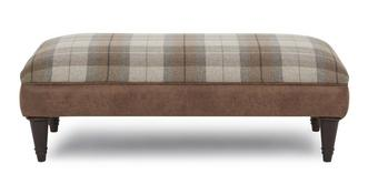 Goulding Check Top Large Footstool