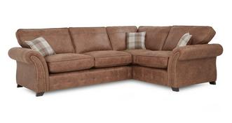 Goulding Left Hand Facing Formal Back 3 Seater Corner Sofa