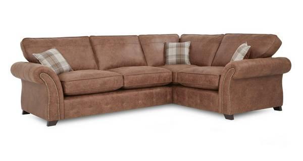 Goulding Left Hand Facing Formal Back 3 Seater Corner Sofa