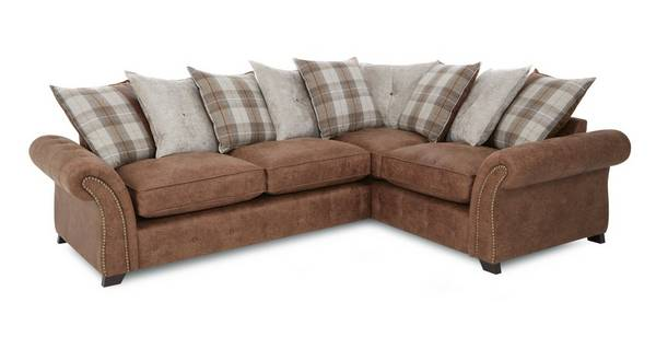 Goulding Left Hand Facing Pillow Back 3 Seater Corner Sofa
