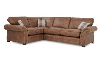 Right Hand Facing Formal Back 3 Seater Corner Sofa