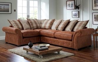 goulding right hand facing pillow back deluxe corner sofa bed oakland - Corner Sofa