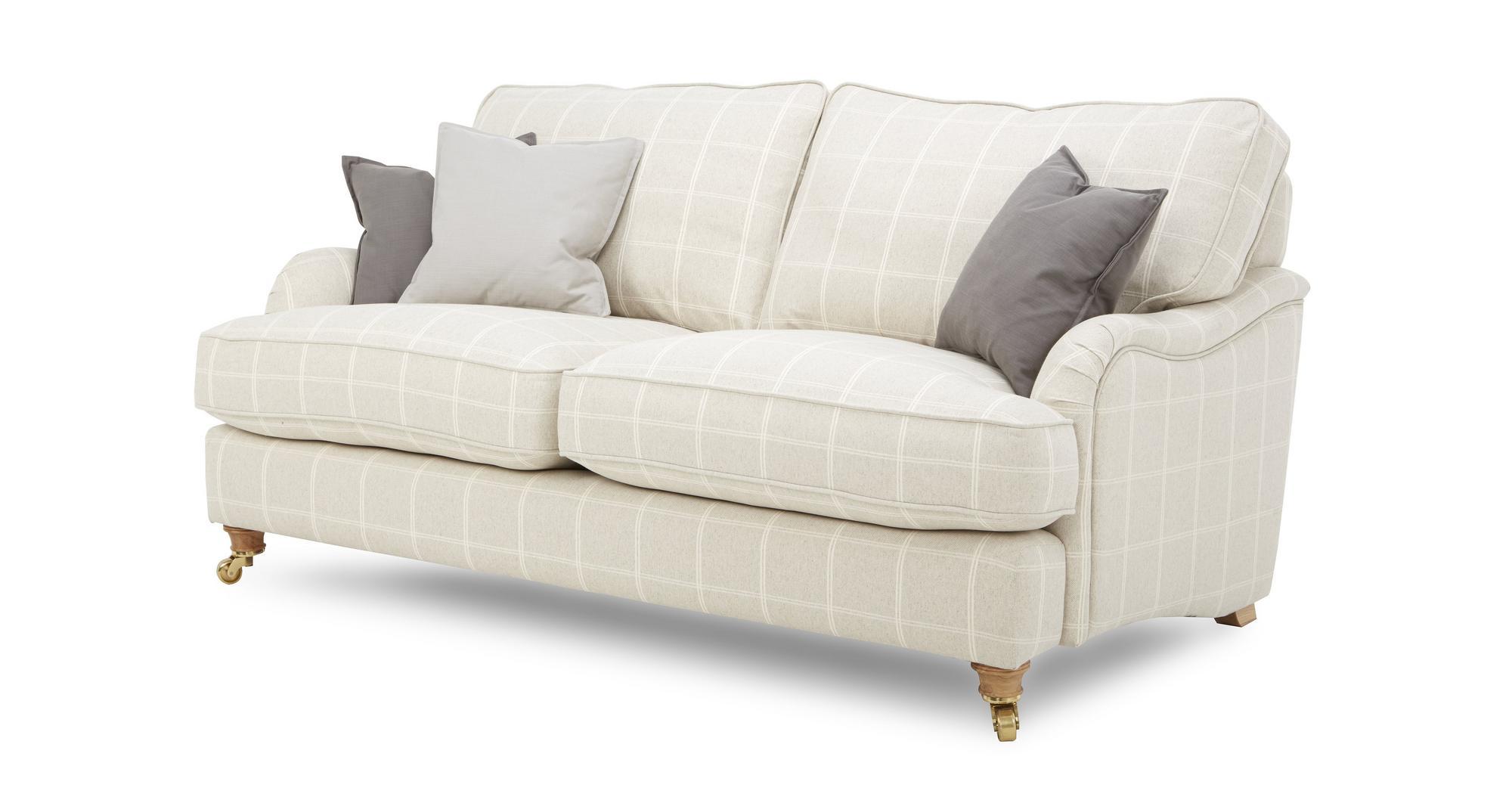 Dfs gower natural fabric set large sofa medium sofa for Sofa natura 6650