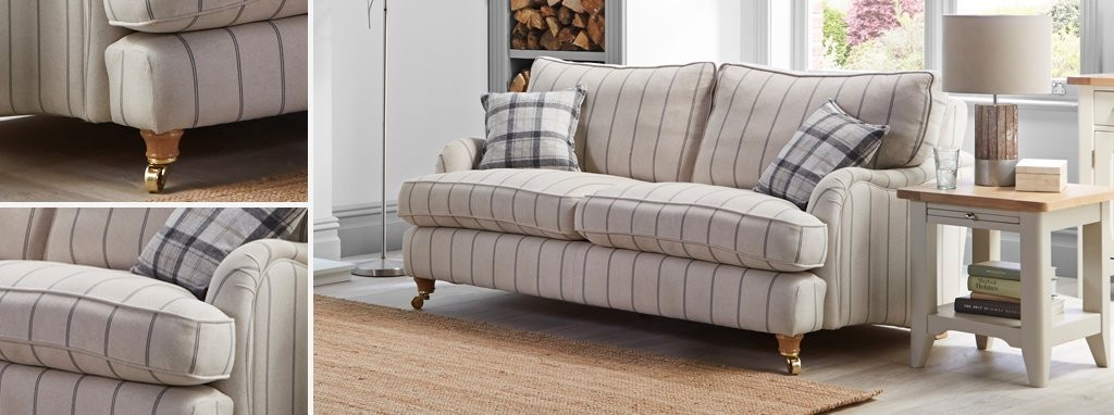 Striped Sofas Living Room Furniture