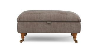 Gower Velvet Rectangular Storage Footstool