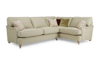 Racing Plain Left Hand Facing 3 Seater Corner Sofa Gower Racing Plain