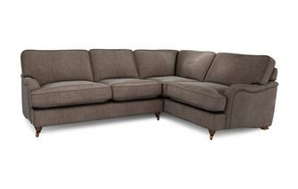 Velvet Left Hand Facing 3 Seater Corner Sofa Loch Leven
