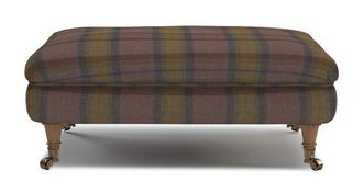 Gower Plaid-Rectangular Footstool
