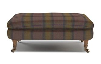 Plaid Rectangular Footstool