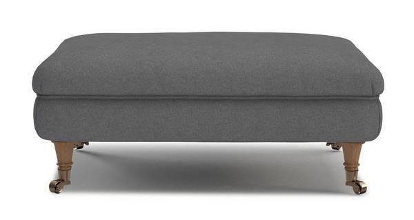 Gower Plain Rectangular Footstool