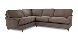 Gower Velvet Right Hand Facing 3 Seater Corner Sofa