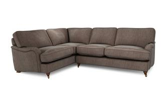 Velvet Right Hand Facing 3 Seater Corner Sofa Loch Leven