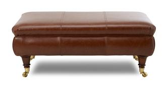 Gower Leather Rectangular Footstool