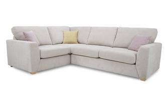Right Hand Facing 2 Seater Corner Deluxe Sofa Bed Sherbet