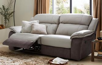 Grammar 3 Seater Manual Recliner Bacio Vellutato