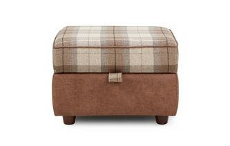 Check Top Storage Footstool Oakland