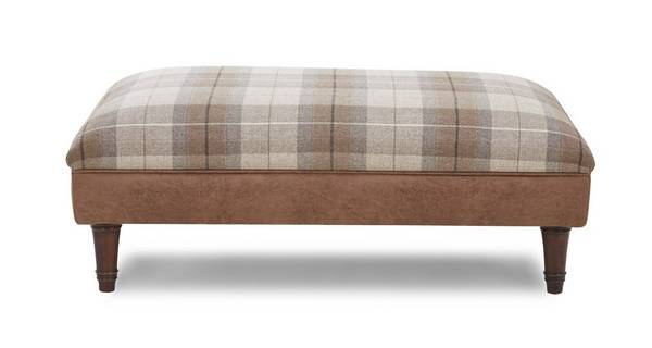 Granby Check Top Large Footstool