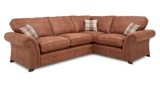 Granby Left Hand Facing 3 Seater Formal Back Corner Sofa