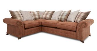 Granby Right Hand Facing 3 Seater Pillow Back Corner Sofa