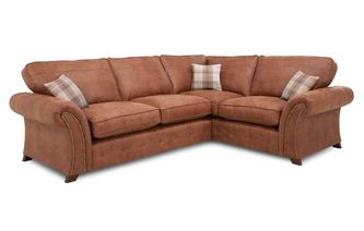 Left Hand Facing 3 Seater Formal Back  Deluxe Corner Sofa Bed Oakland