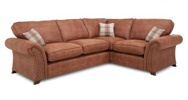 Granby Left Hand Facing 3 Seater Formal Back  Deluxe Corner Sofa Bed