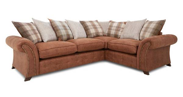 Granby Left Hand Facing 3 Seater Pillow Back  Deluxe Corner Sofa Bed