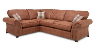 Granby Right Hand Facing 3 Seater Formal Back Deluxe Corner Sofa Bed