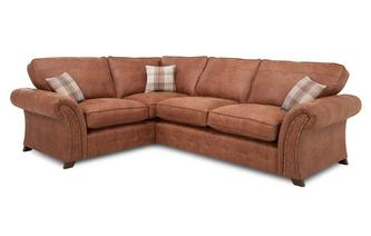 Right Hand Facing 3 Seater Formal Back Deluxe Corner Sofa Bed Oakland
