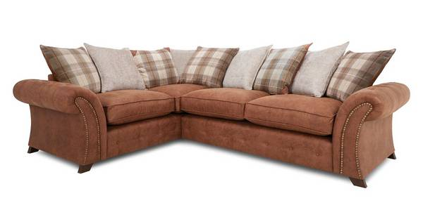 Granby Right Hand Facing 3 Seater Pillow Back Deluxe Corner Sofa Bed